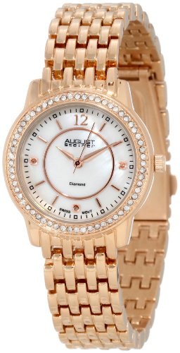August Steiner Women's ASA827RG Dazzling Diamond Bracelet Watch