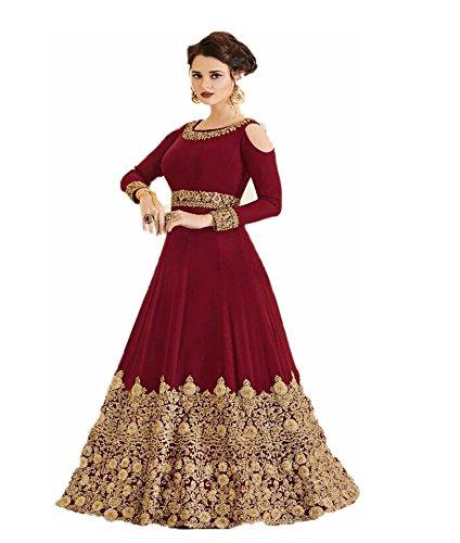 Sai Saree Suits Women S Designer Anarkali Semi Stictched Red