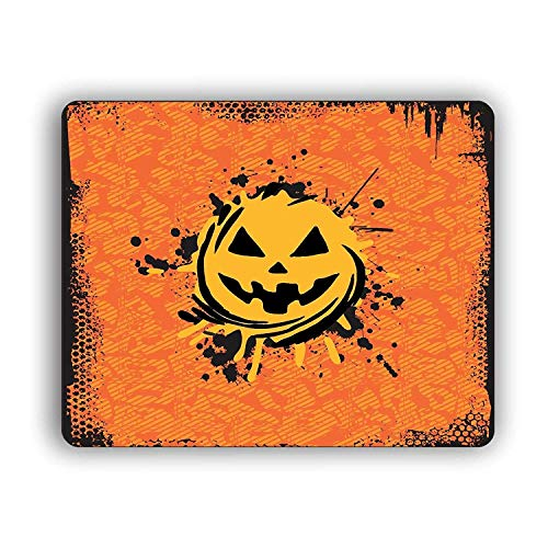 Halloween Pumpkin Break Though Computer Mouse Pad for Home and Office -