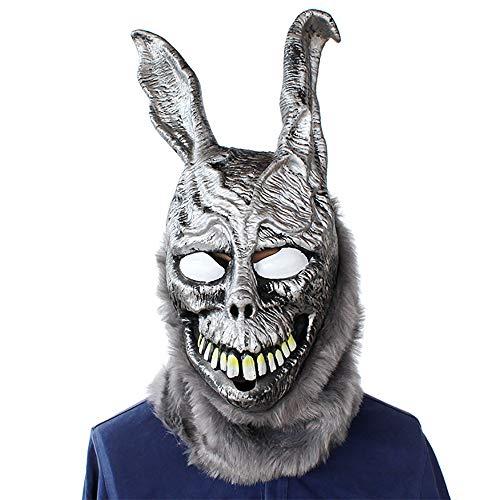 ZYG.GG Halloween Terror Party Scary Props Ghost Rabbit Frank Rabbit Latex mask, Donnie Darko Frank Overhead Mask -