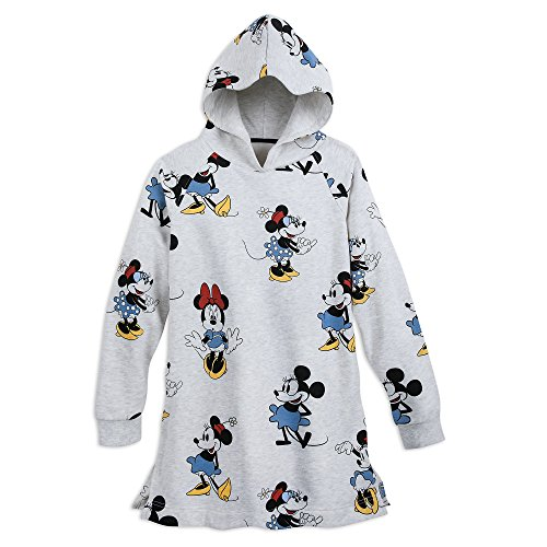 Disney Minnie Mouse Through The Years Tunic Hoodie for Women Size Ladies S White by Disney