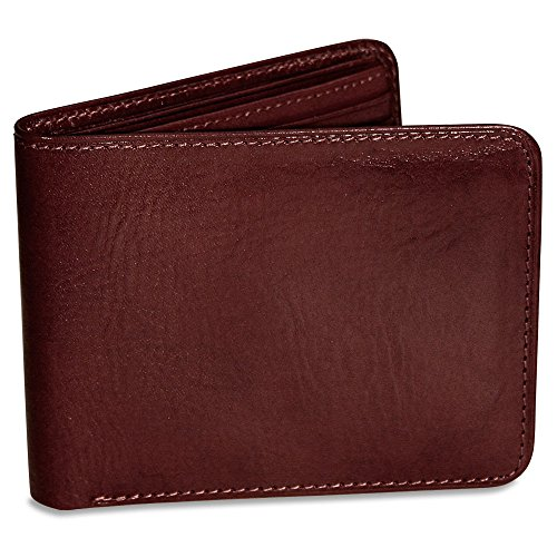 Sienna Collection Tri Fold (Jack Georges Sienna Collection Bi-Fold Leather Wallet Cherry)
