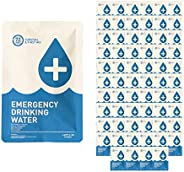 Made in USA - Anti Burst Emergency Water Packets, Emergency Water Pouches, Water for Emergency, Survival Water