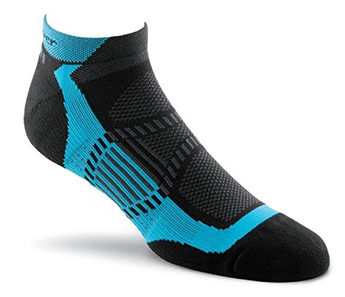 Fox River Peak Velox LX Lightweight Compression Athletic Ankle Socks, Medium, Cyan - Fox River Ankle Socks
