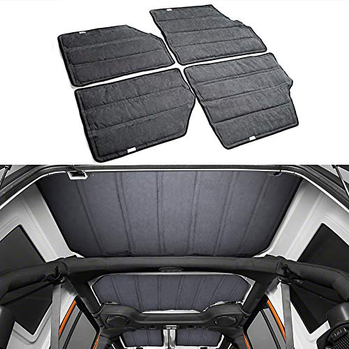 Price comparison product image TFCFL 4X Hardtop Sound Deadener Heat Insulation Kit for 11-16 Jeep Wrangler JK 4 Doors
