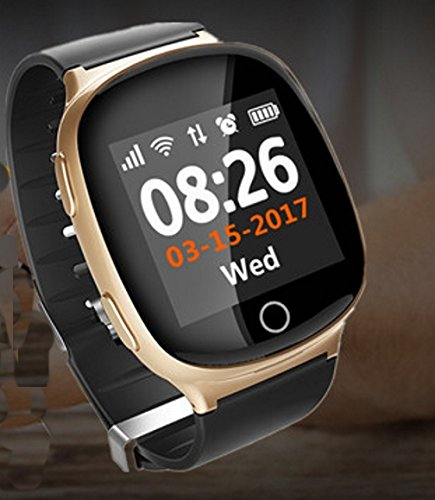 (Senior-Tracker Smart Watch; Life-Waterproof watch with Sports Monitor,Fall-Down SOS Button, 2-way communication,electronic fence and much)