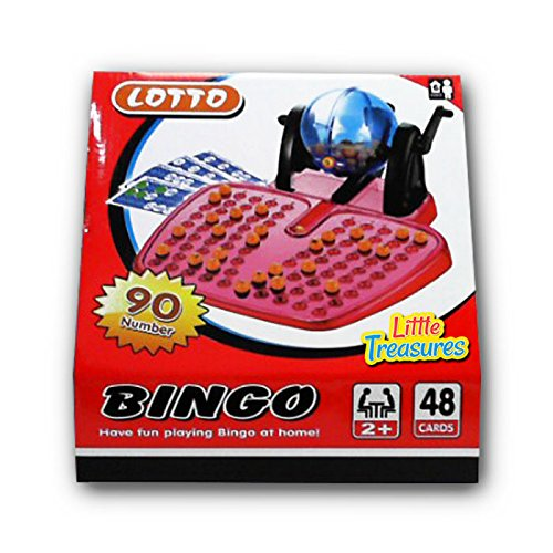 Bingo Game Deluxe Cage (Bingo Game an Educational 90 Number Bingo Set Lottery Party Game Blue (2 to 48 players ? Ages 6 +))