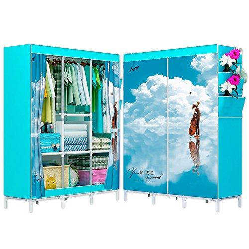 ilios innova Closet armable Grande 165 de Altura portatil facil de armar Funda ecológica Resistencia y Estabilidad al...