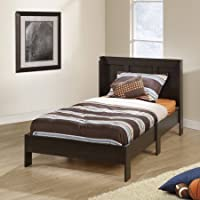 Mainstays Parklane Twin Platform Bed and Headboard, Integrated headboard