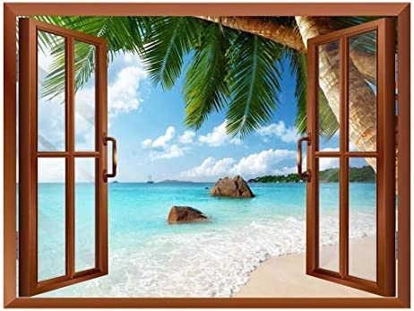 ANSE Lazio Beach on Praslin Island in Seychelles Removable Wall Sticker/Wall Mural - 24