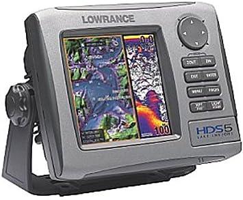 Lowrance HDS-5 50/200 - GPS marino con plotter, fatómetro y transductor: Amazon.es: Electrónica