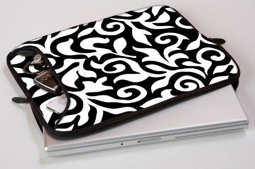 Designer Sleeves 17-Inch Fashion Laptop Sleeve, Black/White (17DS-BWF)