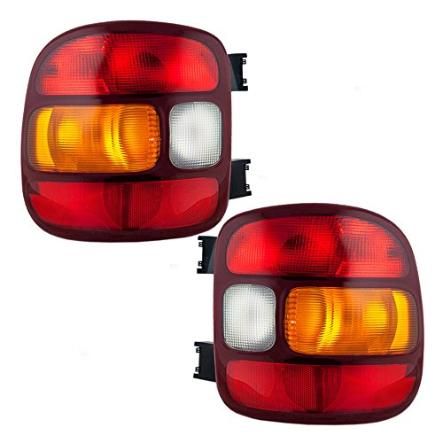 Driver and Passenger Taillights Tail Lamps Replacement for Chevrolet GMC Stepside Pickup Truck 19169012 19169013