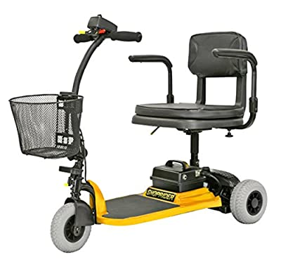Shoprider - Hero - Portable Travel Scooter - 3-Wheel - Yellow