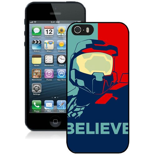 Coque,Fashion Coque iphone 5S Halo Believe Vector Noir Screen Cover Case Cover Fashion and Hot Sale Design