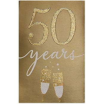 d1ab7eb0d83 Amazon.com   Hallmark 50th Anniversary Card (Golden Wedding ...