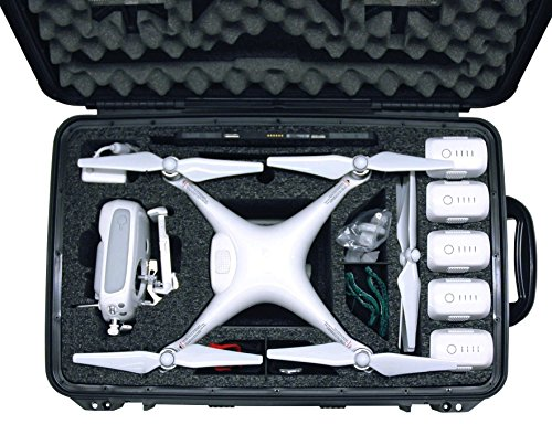Case Club DJI Phantom 4 Drone Case with Wheel, Waterproof and Silica Gel
