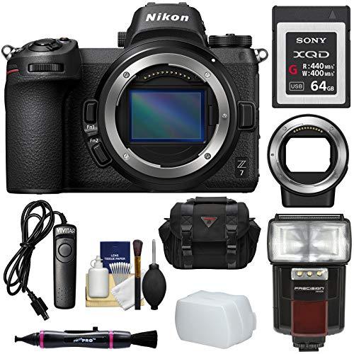Nikon Z7 Mirrorless Digital Camera Body with Mount Adapter F