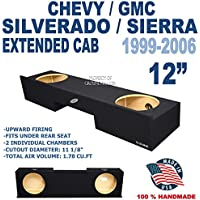 99-06 Chevy Silverado Gmc Sierra Ext Extended Cab Truck 12 Sub Box Subwoofer Enclosure