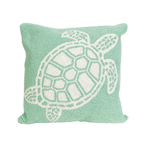 Liora Manne 7F08SB01706 Whimsy Tortoise Indoor/Outdoor Pillow,Green,18