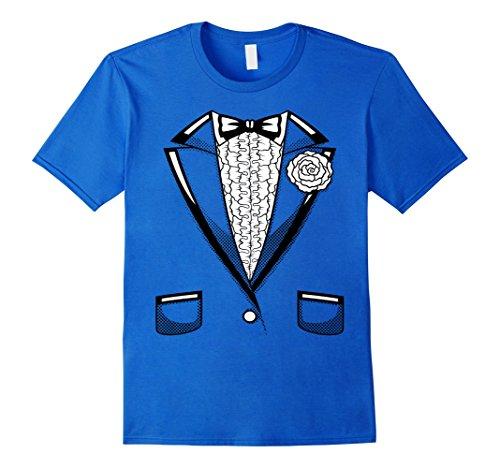 Men's Tuxedo T-Shirt   Retro Halloween Prom Black Bowtie ...