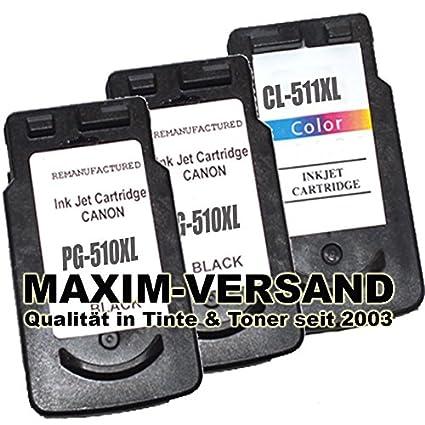 3 x Cartuchos de Tinta (Juego) Canon PG-510 Black & CL-511 ...