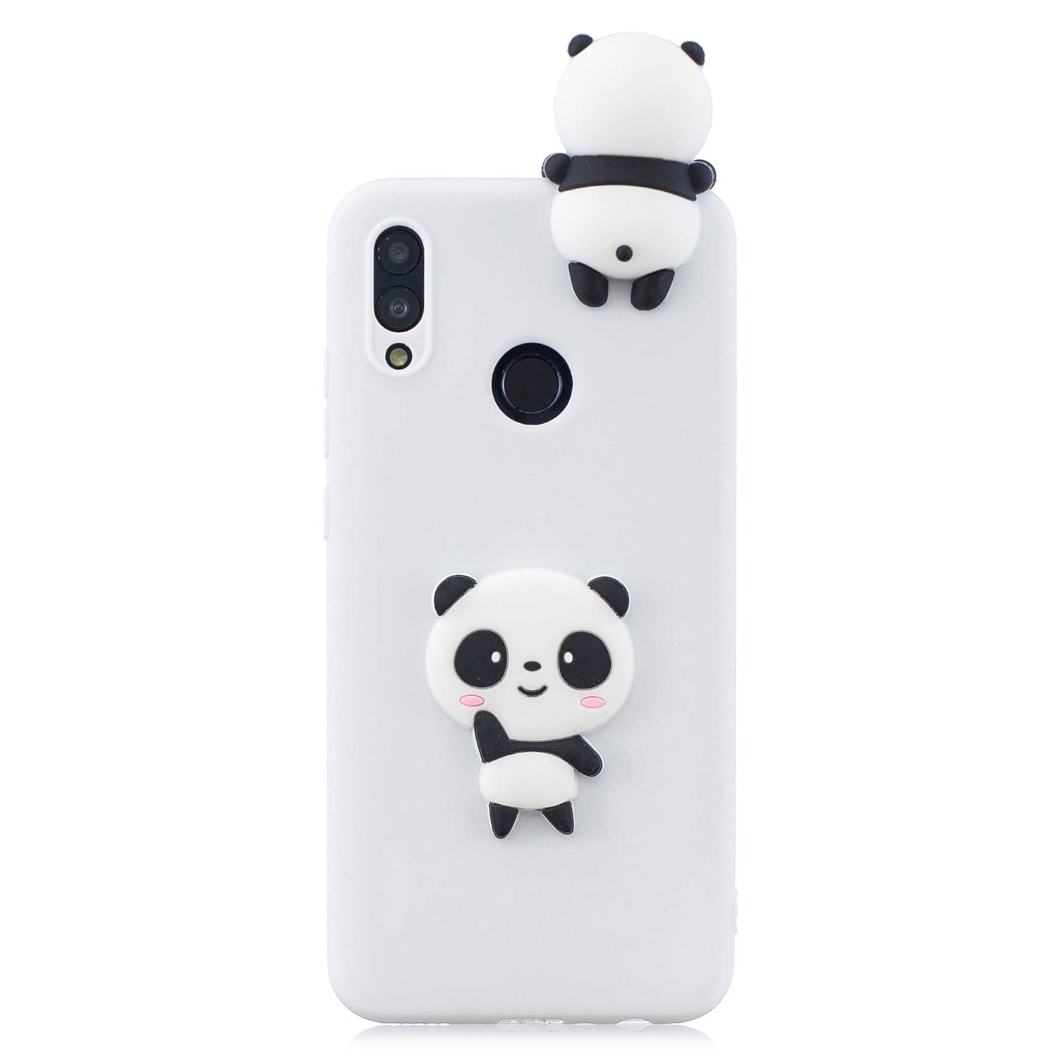 TPU Case for Huawei P Smart 2019/Huawei Honor 10 Lite,Moiky Funny 3D White Panda Design Ultra Thin Soft Silicone Resistant Back Cover Phone Case Unique Style Protect Case by MOIKY (Image #3)