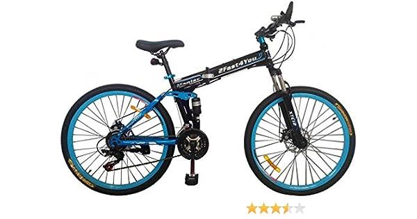 2Fast4You - Bicicleta de montaña plegable (26