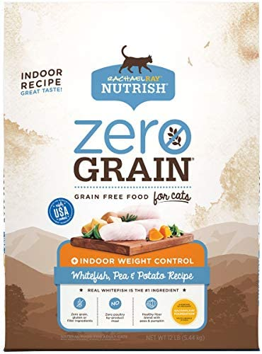 Rachael Ray Nutrish Zero Grain Dry Cat Food for Indoor Cats, Grain Free