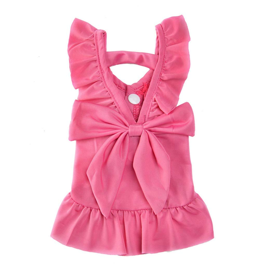 HXBLB New net red pet Clothes Summer Teddy Spring Dress Than Bear Small Dog cat Puppy Dog   Breathable Thin Section (Color : Red, Size : M)
