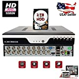 Evertech 16 Channel HD 1080N AHD Analog High Definition DVR HDMI Cloud + 2TB HDD Installed Security Surveillance System