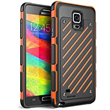 Galaxy Note 4 Case- Supcase, Unicorn Beetle Sport Case-Orange/Black