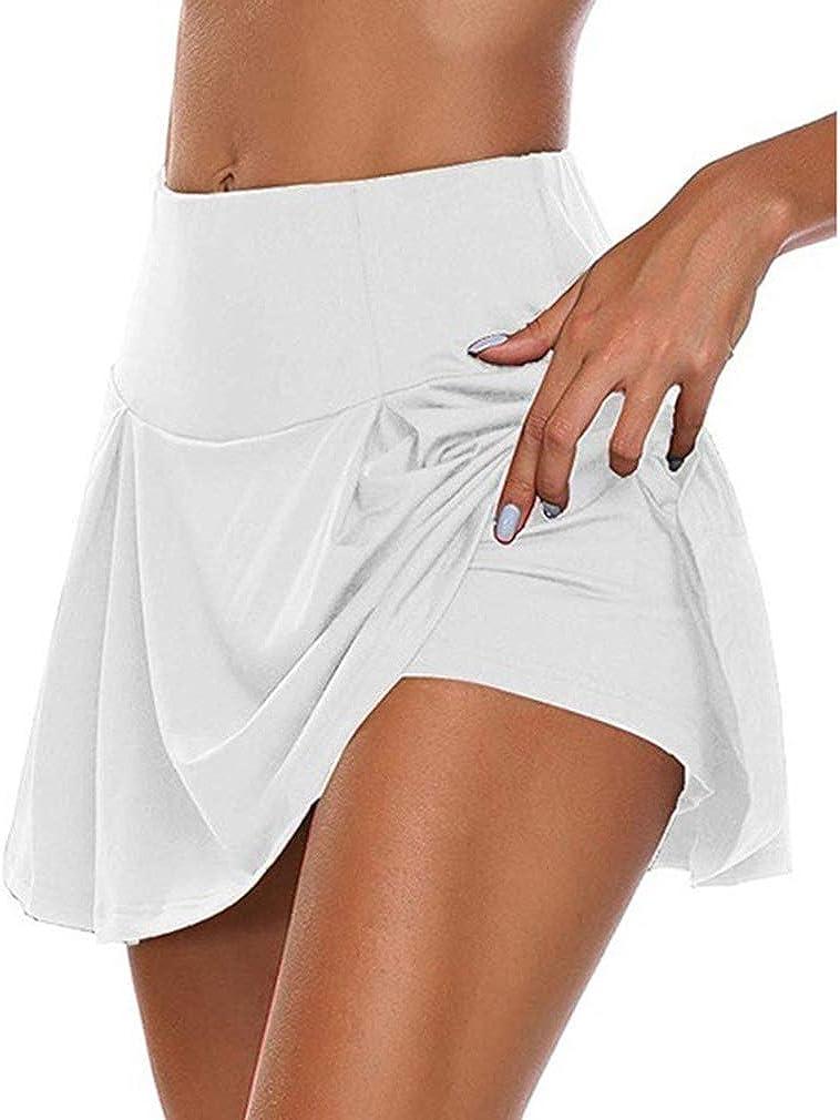 Falda Pantalón Deportiva de Tenis Golf para Mujer Skorts Casuales ...
