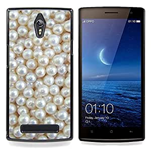 Stuss Case / Funda Carcasa protectora - Blanca Rich joya de la perla de la gema - OPPO Find 7 X9077 X9007