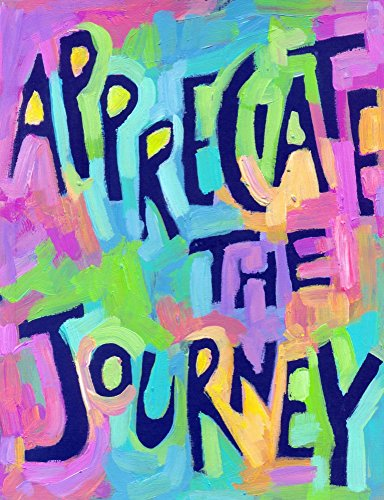 Appreciate The Journey   Motivational Poster