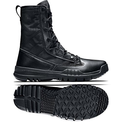 - Nike Men's SFB Field 8' Special Tactic Boots-Black/Black-10.5