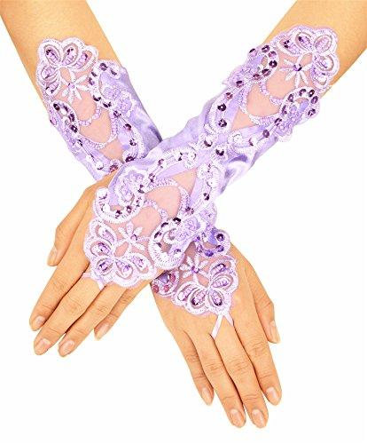 Deceny CB Long Gloves for Flower Girls Princess Gloves for Wedding Formal Gloves
