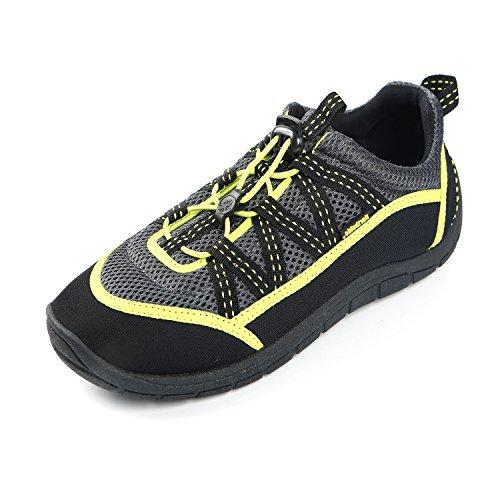 Northside Unisex Brille II Athletic Water Shoe,Grey/Lime,10 M - Shoe Bobs Zebra