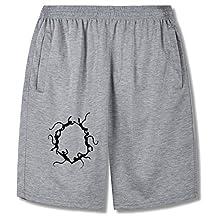 QAQ Chemical symbol,The monkey,The circle,Benzene ring Fashion short pants For mens