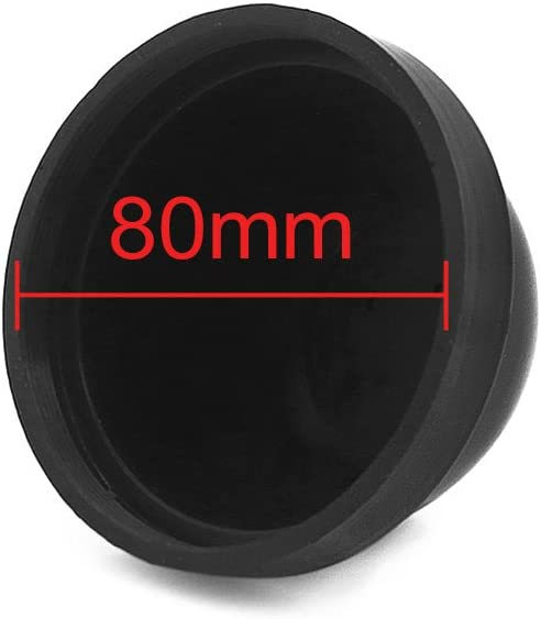 uxcell 2 Pcs 80mm Inner Diameter Rubber Seal Cap Dust Cover Protector for Automobile LED HID Headlight