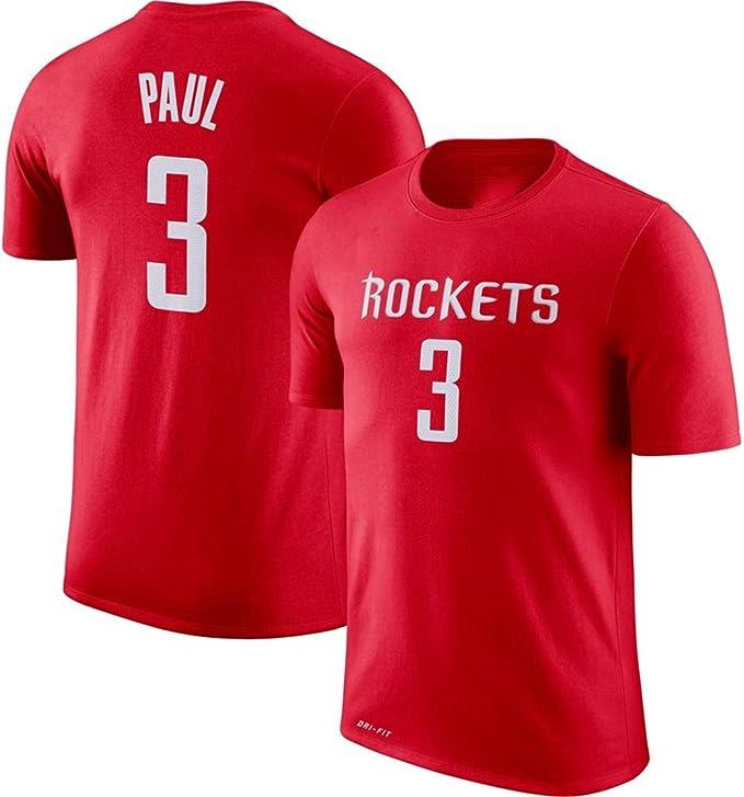 LXY-Sports Camiseta NBA Houston Rockets número 3 Impresa Suelta ...