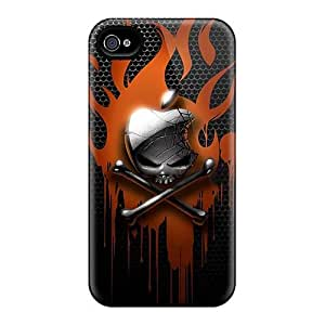 Protective Hard Cell-phone Case For Iphone 4/4s With Customized Trendy Metallica Skin KellyLast