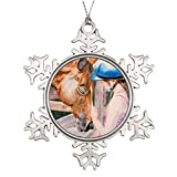 Bowen Rhodes Personalised Christmas Tree Decoration HorseBack Riding Girl and her Horse Animal Lover Equestrian House Decorations
