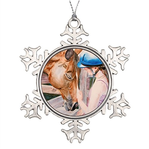 Bowen Rhodes Personalised Christmas Tree Decoration HorseBack Riding Girl and her Horse Animal Lover Equestrian House Decorations by Bowen Rhodes