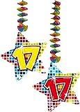 2x Decken Dekoration * 17. Geburtstag * für Kindergeburtstag // 60817 // Birthday Kinder Party Hängende Deko Hanging Deco Zahlendeko Zahl Zahlen