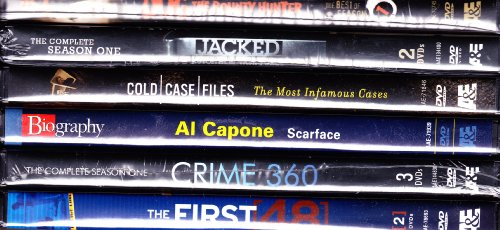 (The First 48 Most Intense Investigations , Crime 360 Complete Season One , Cold Case Files The Most Infamous Cases , Jacked Auto Theft Task Force Complete Season One , Dog The Bounty Hunter Best of Season One , Al Capone Scarface Biography : A&E Ultimate True Crime Collection : 11 Disc Set)