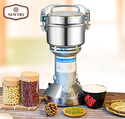NEWTRY 300g Electric Stainless Steel Pulverizer Blender Herb Mixer Household Food Mill Grain Coffee Grinder Superfine For Chinese Medicinal Materials Spice Flavoring 110V/220V by NEWTRY