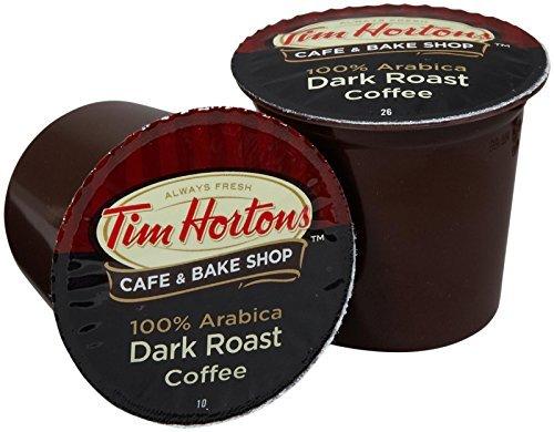 Tim Hortons Coffee, Dark Roast, Single Serve Cups