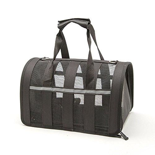 FidgetFidget Fashion Dog Carrier Handbag Portable Small Pet Cat Puppy Cage Shoulder Bag Tote M Black
