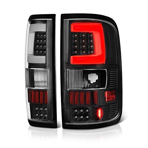 VIPMOTOZ Neon Tube LED Tail Light Lamp Assembly For 2004-2008 Ford F-150 - Matte Black Housing, Driver and Passenger Side